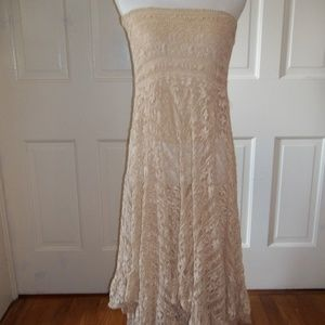 Intimately Free People Skirt M Beige Lace Long